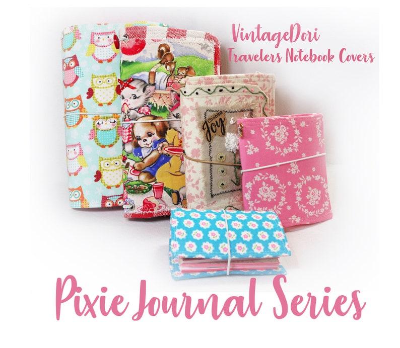 PDF Sewing Pattern VintageDori TN Covers Travelers Notebook image 0