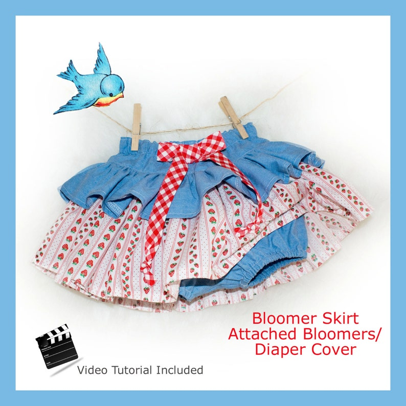 Ruffle Skirt Diaper Cover PDF Sewing Pattern Instant Delivery image 0