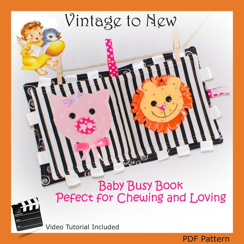 Baby Busy Book  Quiet Book  Playing and Chew Toy image 0