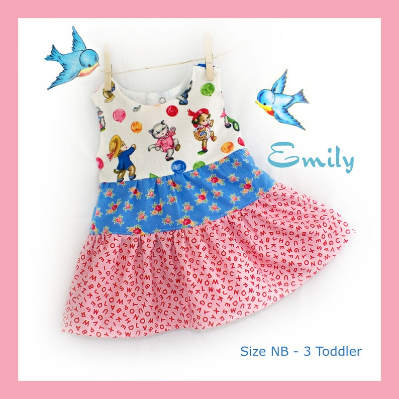 Instant Download PDF Sewing Pattern Infant Baby Toddler Girl image 0