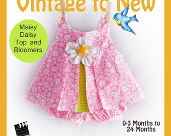 Maisy Daisy Top and Bloomers Summer Set Infant Baby Toddler 0-3 months to 24 months