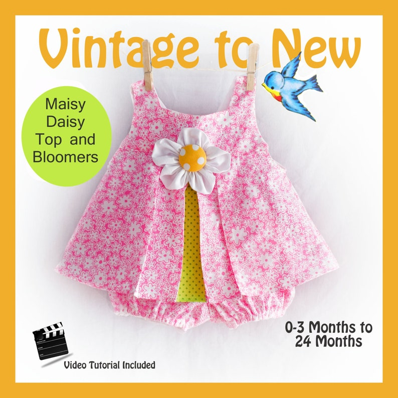 Maisy Daisy Top and Bloomers Summer Set Infant Baby Toddler image 0
