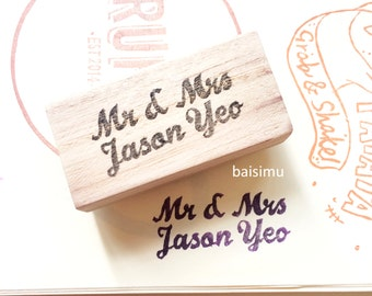 Customised couple name stamp