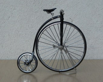 Small Penny Farthing Black & Chrome Bicycle