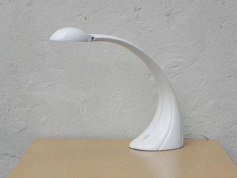 Neo deco blanc moulé lampe de bureau moderne etsy