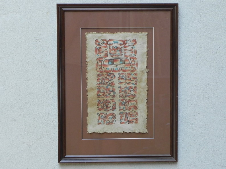 Maschio O Femmina Calendario Maya.Calendario Maya 25 Giugno 1951 Incorniciato Di Dipinti A Mano