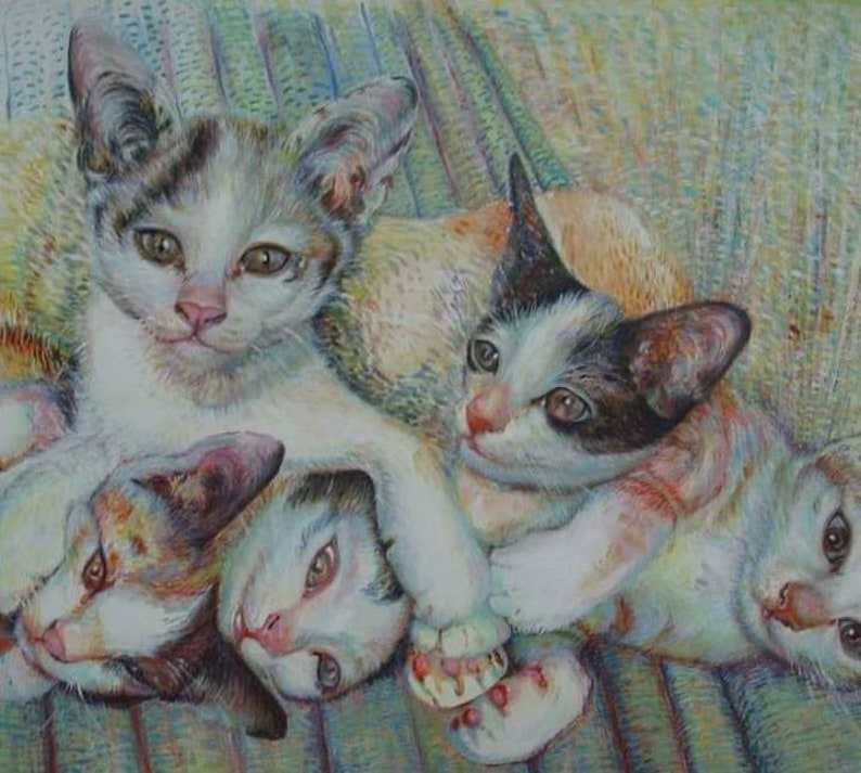 Cat Portraits : Limited Edition Oil Painting image 1