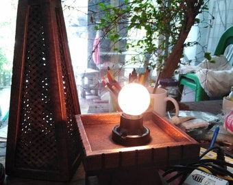 Bamboo&Teak : Vintage Style, Wooden Table Lamp