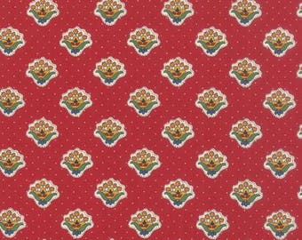Lorraine - Red Print, Quilting Fabric by American Jane from Moda