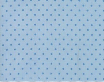 Spring a Ling - Light Blue with blue Dot Quilting Fabric by American Jane from Moda