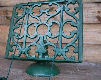 Vintage Shabby Chic Cast Iron Green Recipe Or Music Stand Heavy