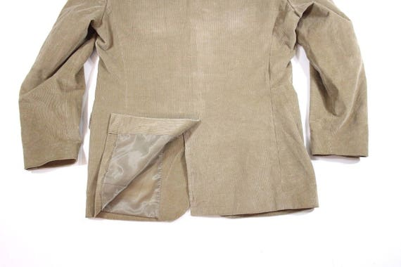Men's Vintage Fitted Stretch Beige Corduroy Blaze… - image 8