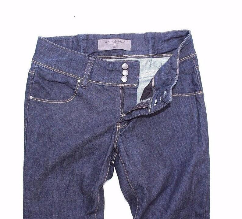 Vintage Blue Denim VERO MODA Zip Fly Stretch Straight Leg Ladies Jeans size W28 L27