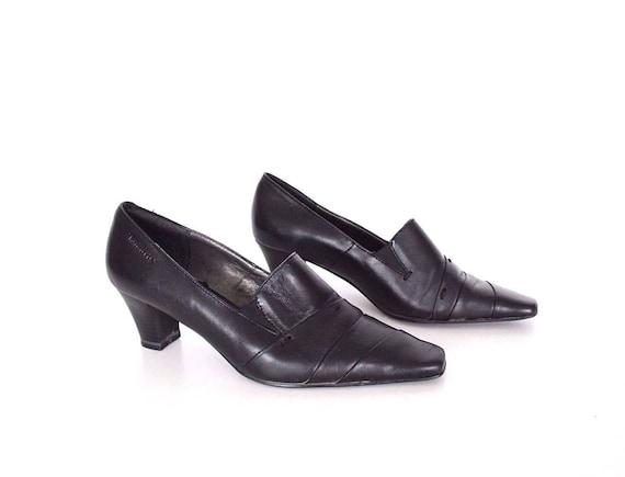 e9d26ba4988 Women s Vintage TAMARIS Mid Heel Slip On Pointy Black 100%