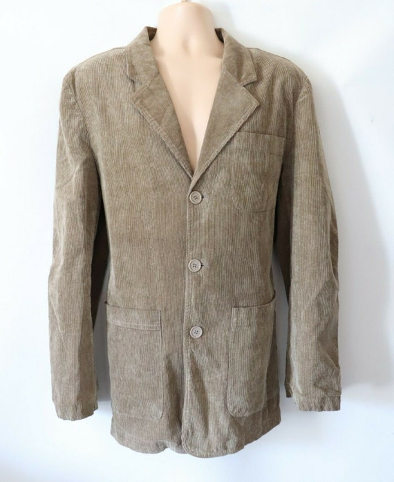 Men's Vintage BOSSINI Beige Corduroy Sports Blazer