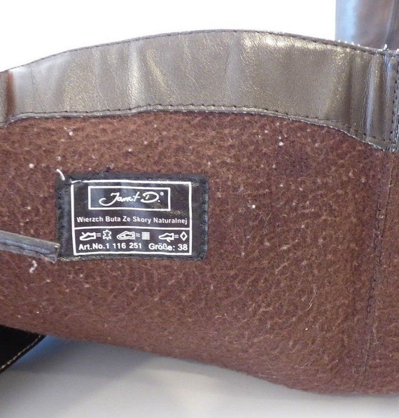 Block D US7 Brown Boots UK5 EUR38 Heel JANET Women's Size Real Leather Vintage Knee High qXw6xfBx