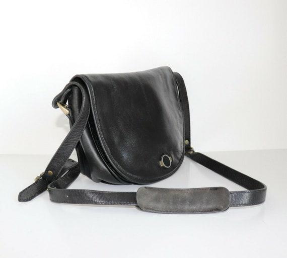 Women's Vintage THREE BAGS Black Small 100% Leathe