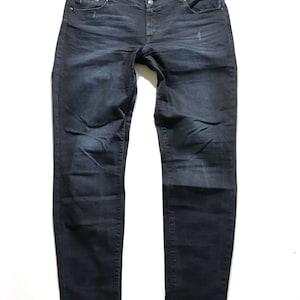 Women/'s Vintage ZARA BASIC Skinny Zip Fly Stretch Sky Blue Cotton Jeans Size UK10  W28 L28