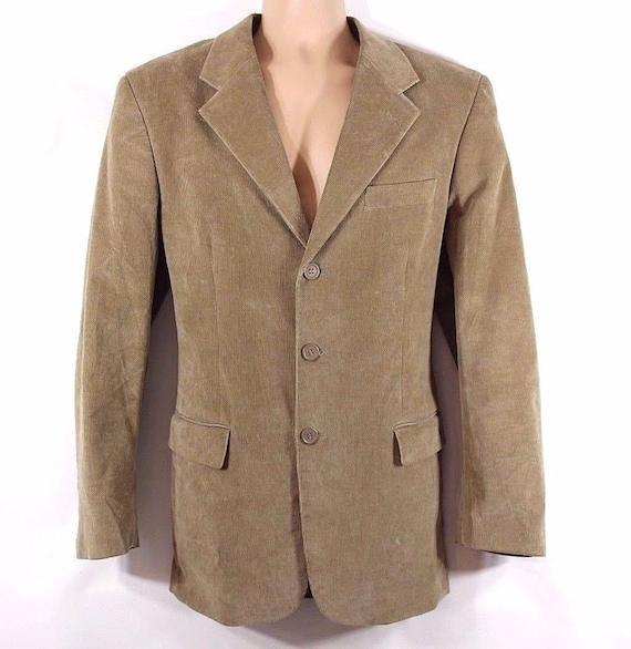 Men's Vintage Beige Corduroy Sports Blazer Jacket