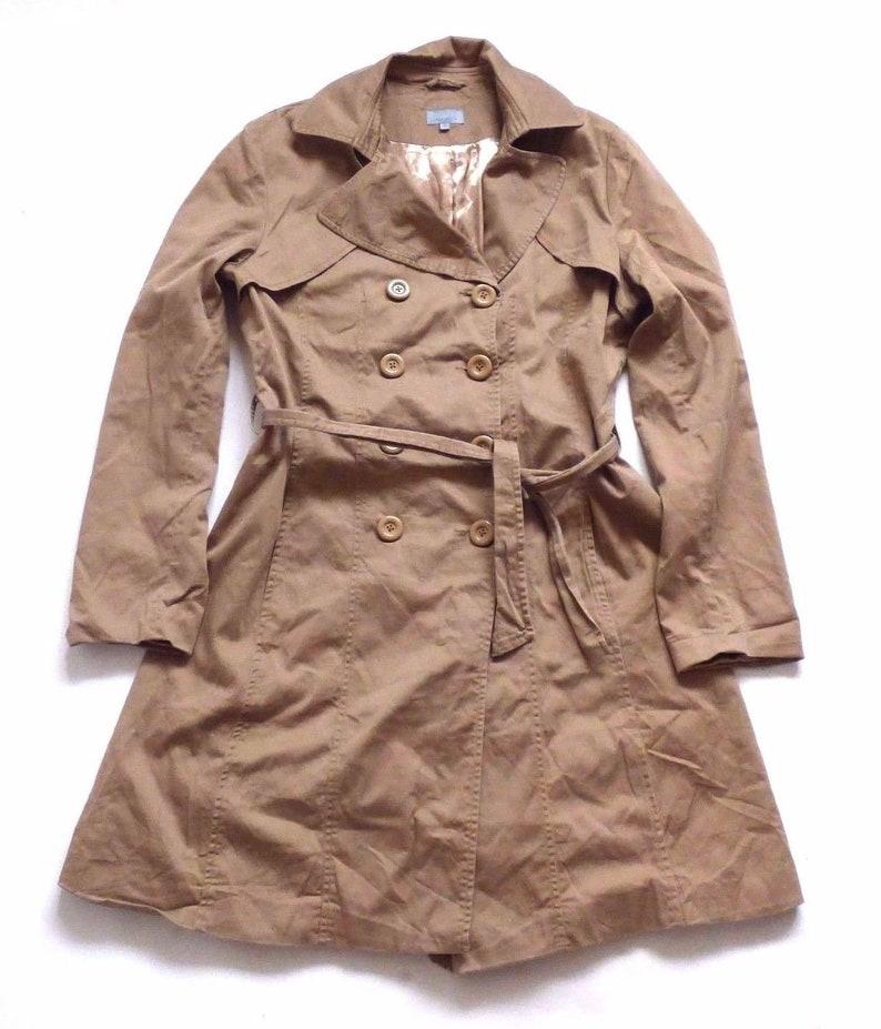 Women/'s Vintage REFLEX Beige Cotton Trench Coat Mac UK14 UK16