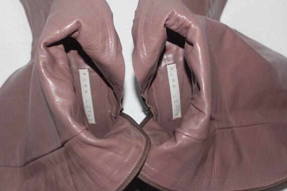 femmes cuir PURA talon de bottes v haut en Vintage LOPEZ axgE8