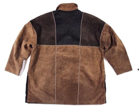 FRIITALA Coat UK20 Slouch Jacket Length Leather Brown Real 100 Women's Parka Vintage Size Hip wnBOPIaq0