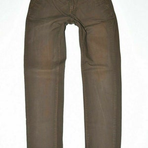 Brown Cotton Blend EDC Tapered Regular Casual Women/'s Trousers Size UK12 L31