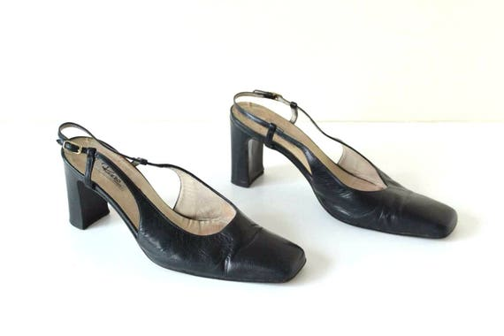cuir 100 Chaussures vintage EU38 taille sandales v noir 5 UK5 5 x8z7Px