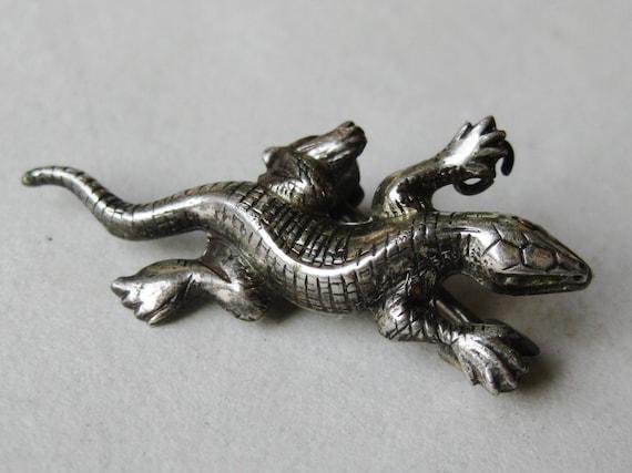 Vintage Sterling Silver Lizard Novelty Brooch Sca… - image 6