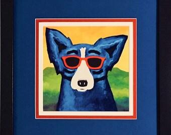 Blue Dog Art Etsy