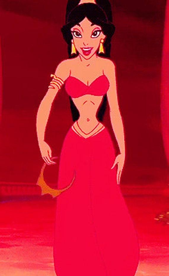 Princess Jasmine Red Outfit Slave Cosplay Costume Disneybound Etsy