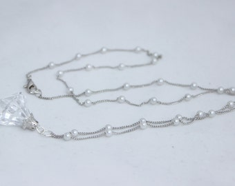 Silver Crystal Necklace Sailor Moon Cosplay Costume