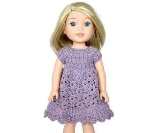 """Download Now - CROCHET PATTERN 14.5"""" Doll Spring Petal Dress Pattern"""