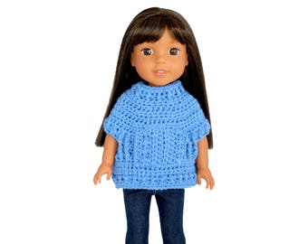 """Download Now - CROCHET PATTERN 14-14.5"""" Doll Riley Pullover Pattern"""