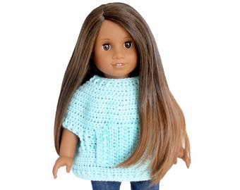 """Download Now - CROCHET PATTERN 18"""" Doll Riley Pullover Pattern"""
