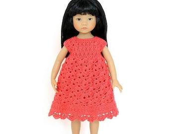 """Download Now - CROCHET PATTERN 13"""" Little Darling® Doll Spring Petal Dress"""