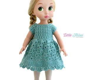 Download Now - CROCHET PATTERN Doll Spring Petal Dress for Disney Animators' Dolls