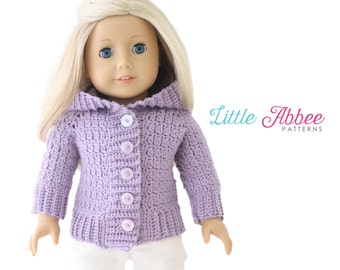 """Download Now - CROCHET PATTERN 18"""" Doll Snowball Sweater"""