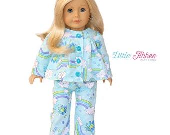 "Download Now - Sewing Pattern 18"" Doll Pajamas"