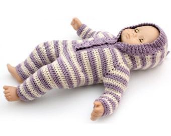 """Crochet Pattern - 15"""" Doll Baby Sleeper Crochet Pattern"""