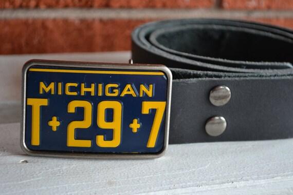 Boucle de ceinture de plaque dimmatriculation du Michigan   Etsy 8d0024d6099