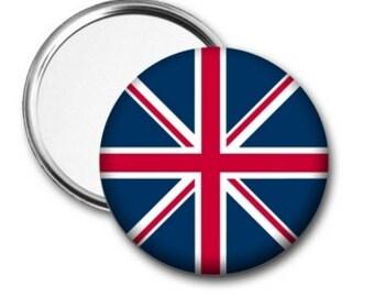 British Flag Pocket Mirror, Union Jack Mirror