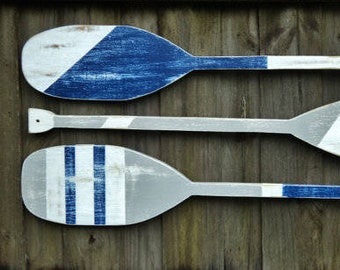 Decorative Boat Oars Oar Decor Wooden Oars Wood Oar Oar Etsy