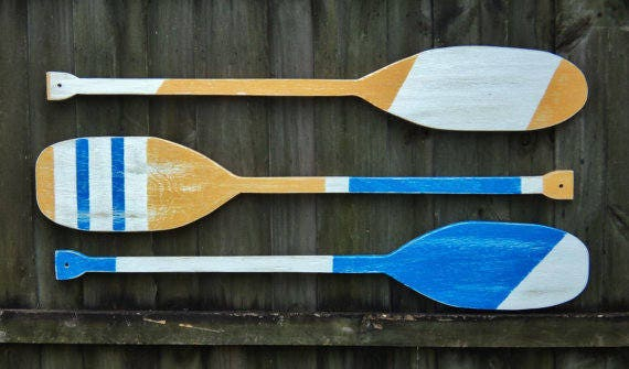 Decorative Boat Oars Oar Decor Wooden Oars Wood Oar Oar Wall Decor Wood Paddle Boat Oar Lake House Decor Painted Oar Wooden Paddle
