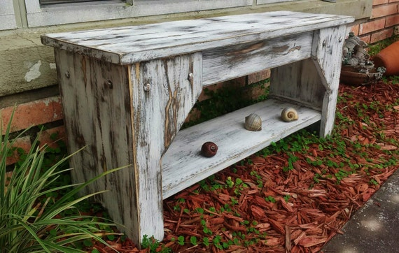 Brilliant Extra Rustic Farmhouse Bench Mudroom Bench Indoor Bench Entry Bench Wooden Bench Farmhouse Furniture Entryway Bench Shoe Shelf Evergreenethics Interior Chair Design Evergreenethicsorg