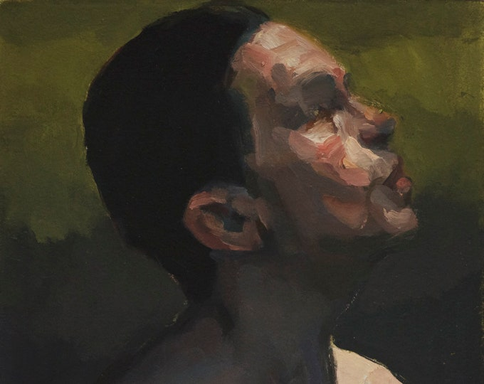 Canon (Fifty-Sixth), 7x7in Oil Painting