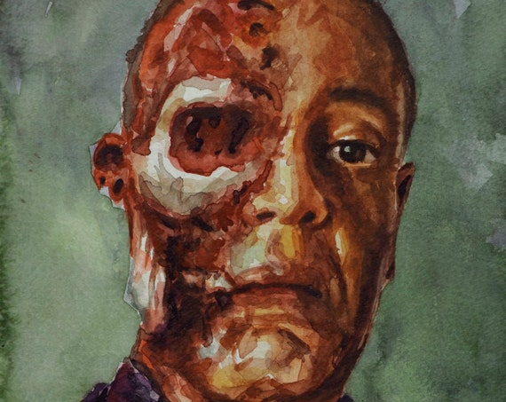 "Gus Fring, PRINT from watercolor painting - 8.5 x 11 "" - -  11 x 17 "" - -  13 x 19 "" fine art prints - Breaking Bad Face Off"