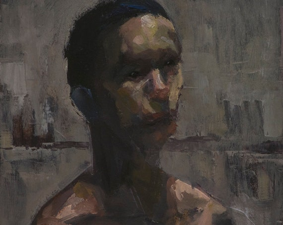 Canon (Sixty-first), 7x7in Oil Painting