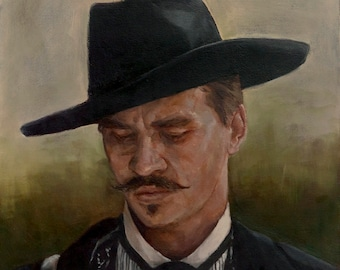 "Doc HOLLIDAY, PRINT from oil painting - 8.5 x 11 "" and 11 x 17 "" and  13 x 19 "" fine art prints"
