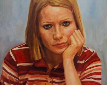 Margot Tenenbaum, painting PRINT multiple sizes from original oil work